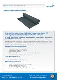 Factsheet B1 Messeteppichboden - AllBuyOne