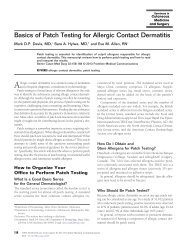 Basics of Patch Testing for Allergic Contact Dermatitis - Cosmetic ...