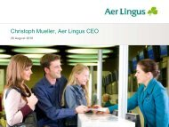 Christoph Mueller, Aer Lingus CEO