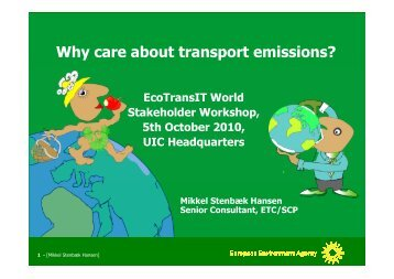 Why care about transport emissions? - EcoTransIT