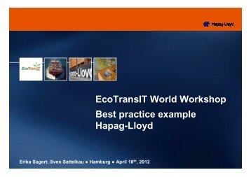 Best practices from companies Hapag-Lloyd