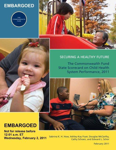 State Scorecard on Child Health System Performance, 2011