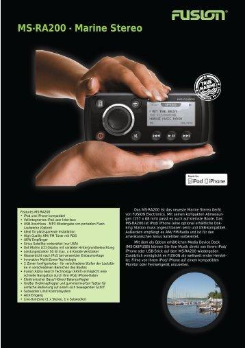 Fusion Prospekt dt. - Willkommen in der Welt des AudioMarine ...