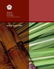 Annual Report 2009 - Maple Energy