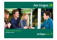 2009 Full Year Results - Aer Lingus