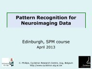 Pattern classification - Brain Research Imaging Centre Edinburgh