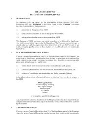 AER LINGUS GROUP PLC STATEMENT OF AGM PROCEDURES 1 ...