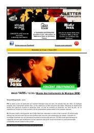 Newsletter van de Lundis d'Hortense on-line (13 ... - Jazz in Belgium