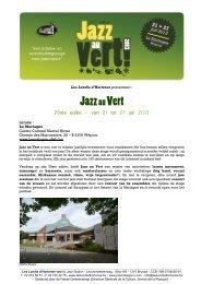 Jazz auVert - Jazz in Belgium