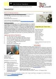 Newsletter - Jazz in Belgium