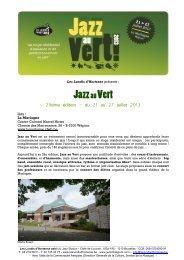 Infos et bulletin d'inscription .PDF - Jazz in Belgium