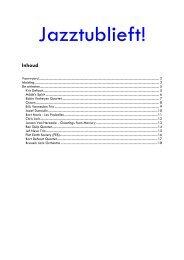 Inhoud - Jazz in Belgium