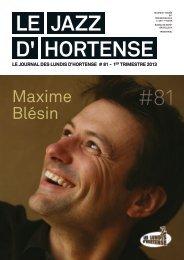 Le JAZZ d' Hortense #81 - Les Lundis d'Hortense