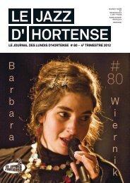 Octobre 2012 - Les Lundis d'Hortense