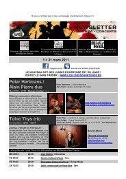 LE NOUVEAU SITE DES LUNDIS D'HORTENSE ... - Jazz in Belgium