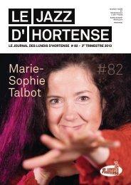 Le JAZZ d' Hortense #82 - Les Lundis d'Hortense