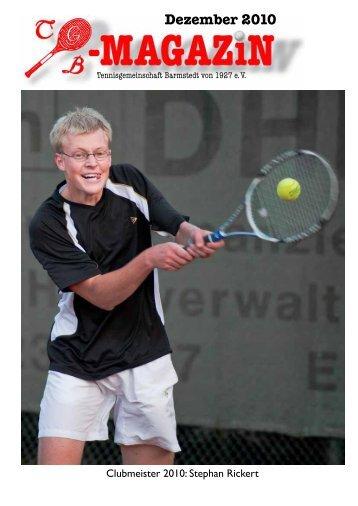 Dezember 2010 - Tennisgemeinschaft Barmstedt