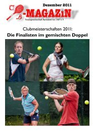 Clubmeisterschaften 2011 - Tennisgemeinschaft Barmstedt
