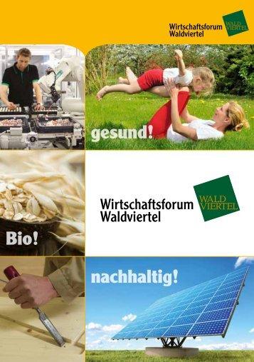 Folder Wirtschaftsforum Waldviertel