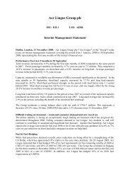 Interim Management Statement - Aer Lingus