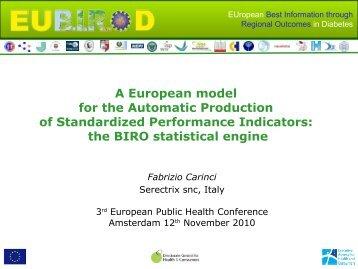 the BIRO statistical engine - eubirod