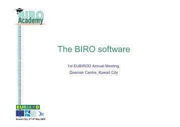 The BIRO software - eubirod