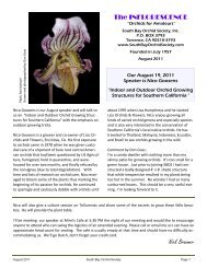 August 2011 - South Bay Orchid Society