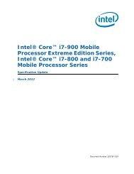 Intel® Core™ i7-900 Mobile Processor Extreme Edition Series, Intel ...