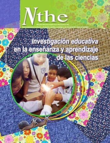 Nthe 6 Investigación educativa en la enseñanza y ... - Concyteq
