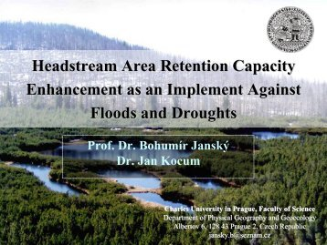 Headstream Area Retention Capacity Enhancement as an ...