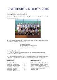 JAHRESRÜCKBLICK 2006 - Union Neukirchen/W.