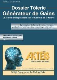 Dossier Tôlerie - Générateur de Gains N°4 - wicam France