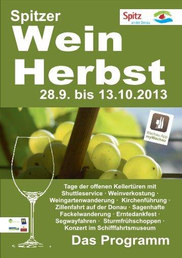 Spitzer Weinherbst 2013 - Vinea Wachau