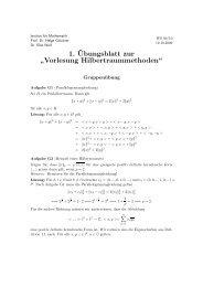 Vorlesung Hilbertraummethoden - Institut für Mathematik