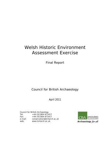 Welsh Historic Environment Assessment Exercise - Royal ...