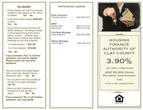 Attention First Time Homebuyers - Clay County!