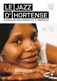 Le JAZZ d' Hortense #78 - Les Lundis d'Hortense