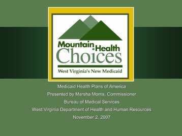 West Virginia - Medicaid Health Plans of America