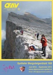 Spittaler Bergsteigerblatt 168 - Alpenverein Spittal/Drau