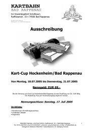 Ausschreibung Kart-Cup Hockenheim/Bad Rappenau Von Montag ...