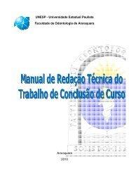 Manual TCC - Faculdade de Odontologia - Unesp