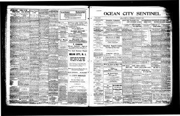 OCEAN CITY, N. J. - Newspaper Archives of Ocean County