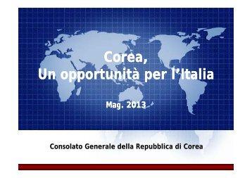 Slides presentazione Repubblica di Corea