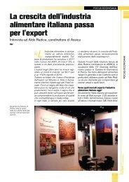 La crescita dell'industria alimentare italiana passa per l'export