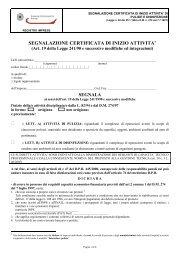 SEGNALAZIONE CERTIFICATA DI INIZIO ATTIVITA'