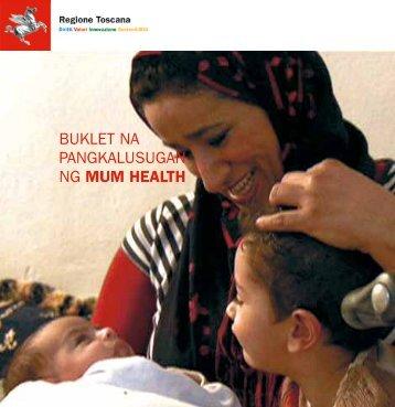 buklet na pangkalusugan ng mum health - ASL 1 di Massa e Carrara