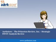 Aarkstore - the Princeton Review, Inc. - Strategic SWOT Analysis Review