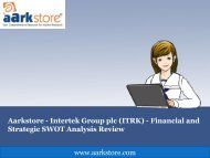 Aarkstore - Intertek Group Plc (ITRK) - Financial and Strategic SWOT Analysis Review