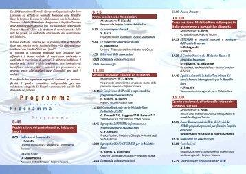 Giornata mondiale delle Malattie Rare - Azienda USL 3 Pistoia
