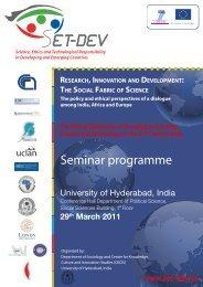 Seminar programme - SET-DEV